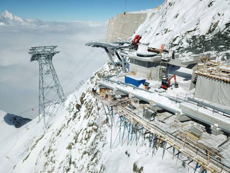 cogeis lavori - alta quota opere civili funiviarie - zermatt bergbahnen ag