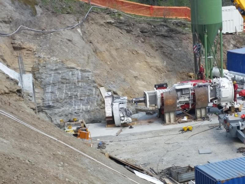 cogeis lavori - tunnelling tbm - idroelettrica arvier