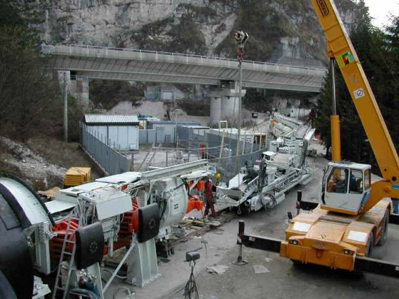 cogeis lavori - tunnelling tbm - snam spa - tunnel stavoli